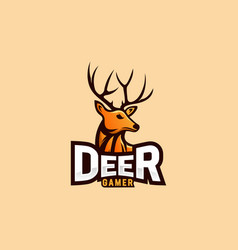 deer logo design for esport logo vector image