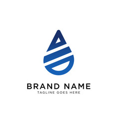 drop water logo design inspiration vector image