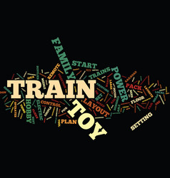 Electric toy trains text background word cloud vector