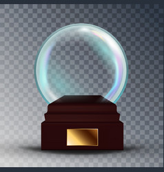 empty snow globe shadows reflection vector image