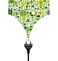 Environmental electric plug vector