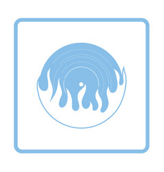 flame vinyl icon vector image
