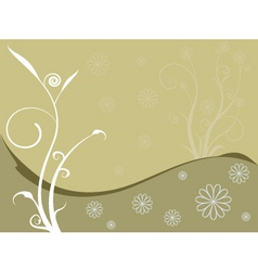 floral brownie vector image