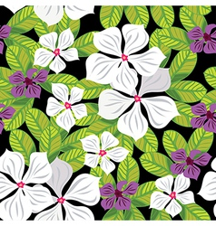 Floral seamless pattern hand-drawing vector image