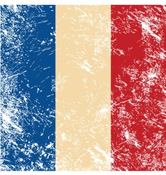 France retro flag vector image