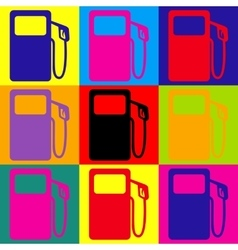 Gas pump sign vector
