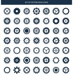 gear icons set vector image