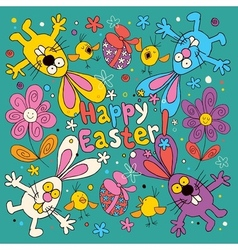 Happy Easter card 2 vector