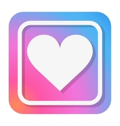 Heart Icon in trendy color vector