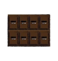 locker wooden mailboxes postal image vector image