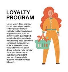 loyalty program flat set vector image