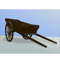Medieval cart vector