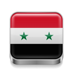 Metal icon of Syria vector