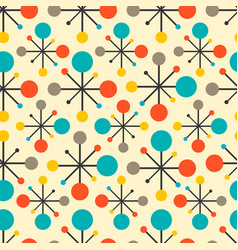 Mid century fifties modern atomic retro colors vector