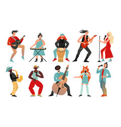 musicians rock band pop musician music vector image