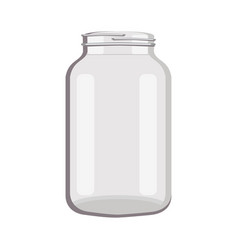 Object glass jar empty vector