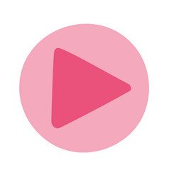 online training video player button education and vector image