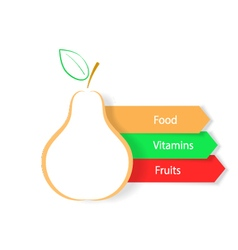 Pear on a white background Infographics natural vector image