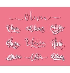 Personal name Olivia vector
