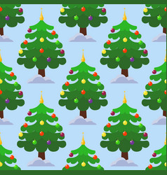 pine tree cartoon green winter holiday vector image
