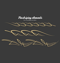 pinstriping ornament elements set vector image