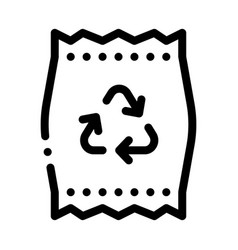 plastic parcel bag with recycle mark icon vector image