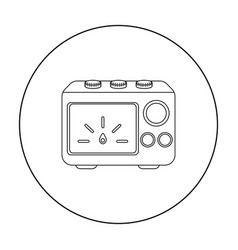 Power supply tattoo icon outline single tattoo vector