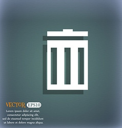 Recycle bin sign icon Symbol On the blue-green vector image