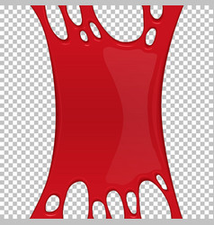 Red sticky slime banner with copy space vector