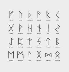 Retro norse scandinavian runes sketch celtic vector