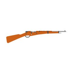 rifle vintage gun shotgun hunting old retro vector image