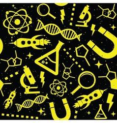 Science black pattern vector