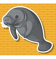 Sea cow vector