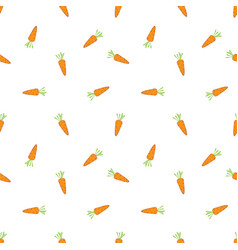 seamless pattern with cute carrots simple vector image