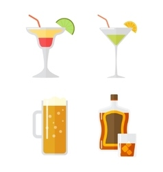 Set of alcohol drink vector image