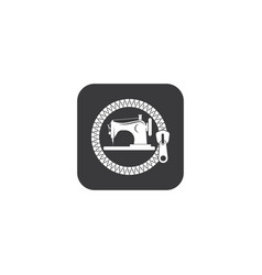 Sewing machine icon logo vector