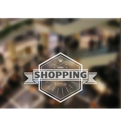 shopping time hipster blur background vector image