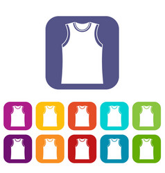 Singlet icons set vector