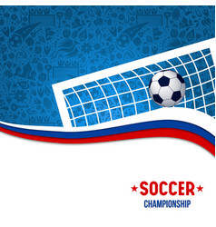 soccer championship match football design vector image
