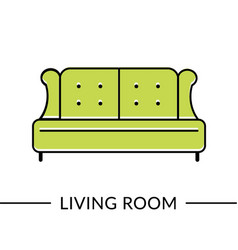 sofa living room furniture line icon vector image