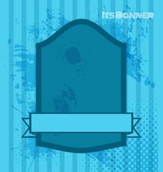 styled vintage label blue retro banner vector image