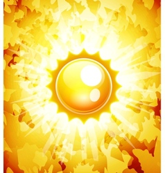 Sunshine abstract background vector image