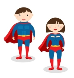 superman and superwoman vector image