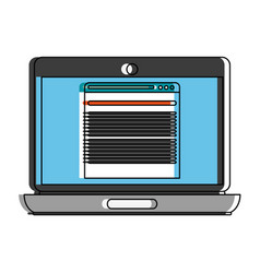 tab open on computer screen icon image vector image