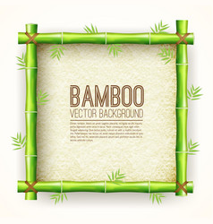 template bamboo board with stretched paper for vector image