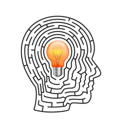 the idea of the labyrinth vector image