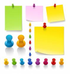 Thumb tack notes vector