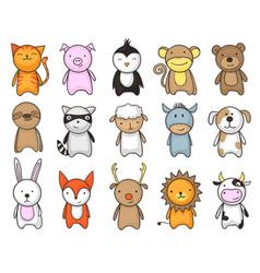 toy animals cartoon set vector image