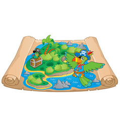 Treasure map theme image 6 vector