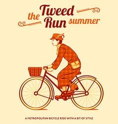 Tweed run poster vector image